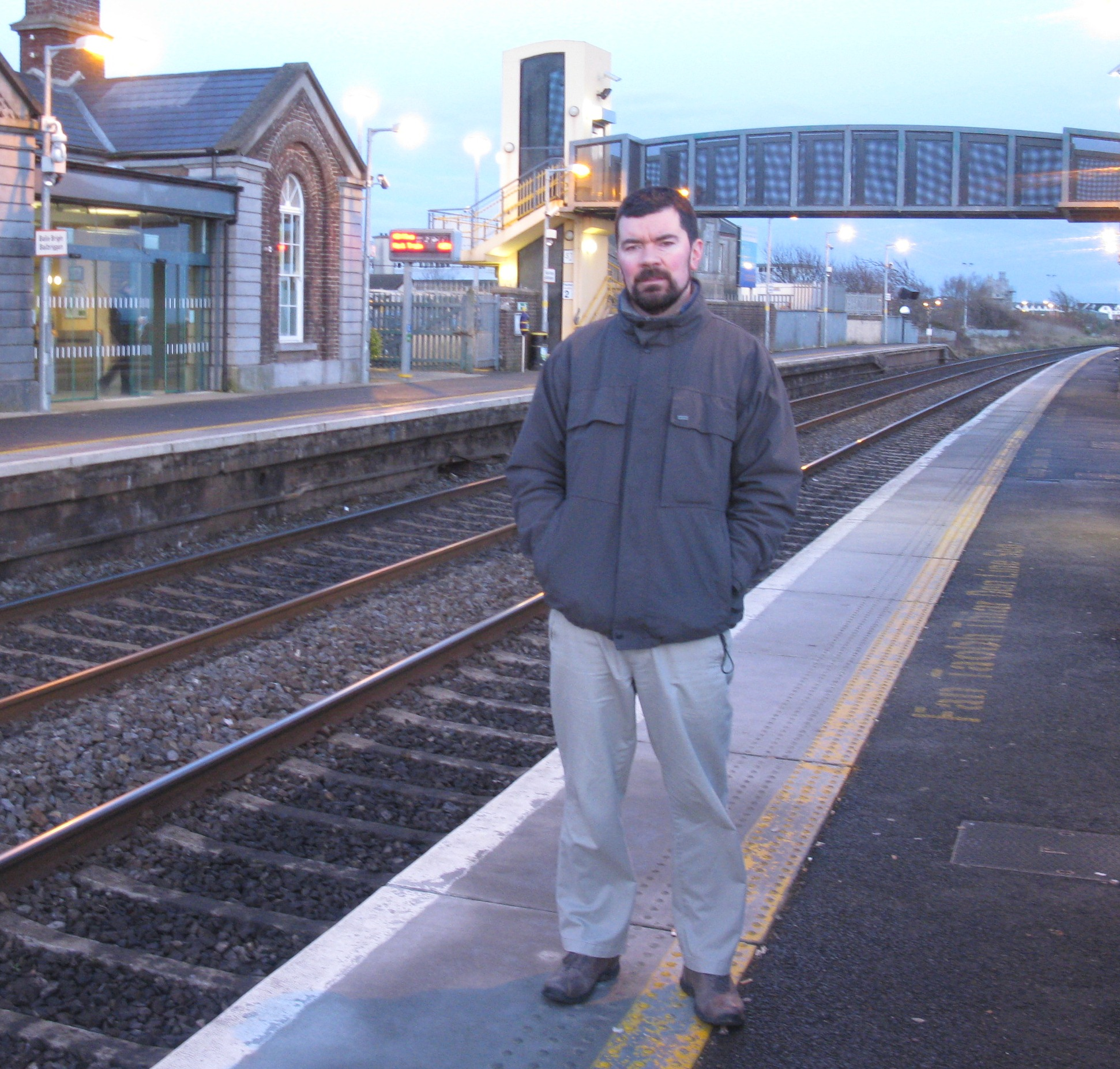 Joe O'Brien at Balbriggan Train Station