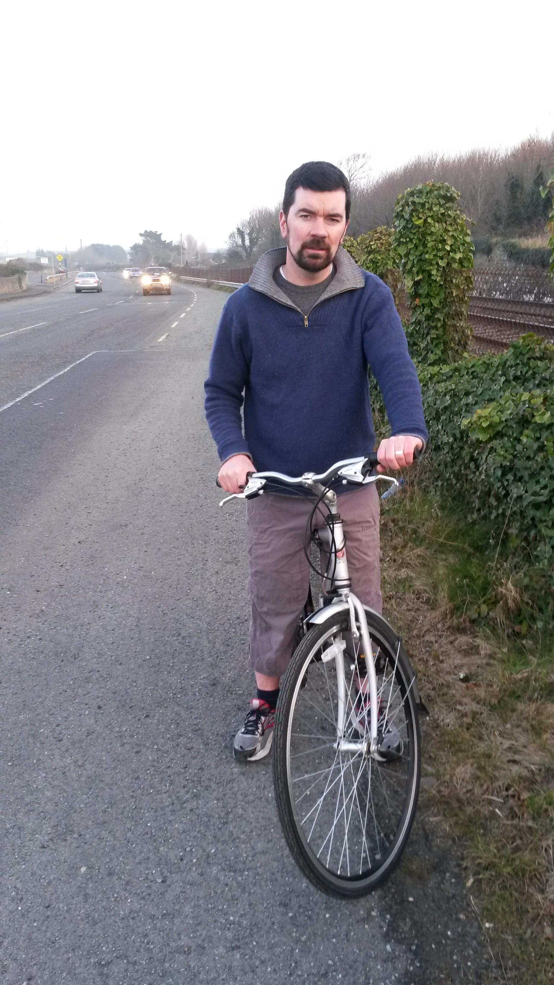 Joe O'Brien on Balbriggan Skerries road